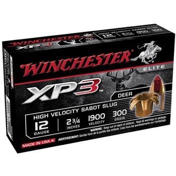 "Win Xp3 12ga 2.75"" Sabot 5/Box"