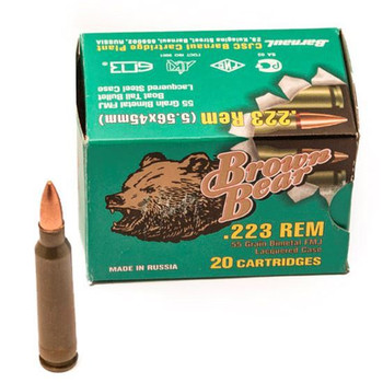 Ammo Brown Bear Ab223fmj .223 REM AB223FMJ-20