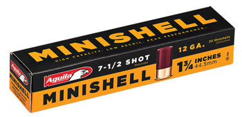 "Aguila 1C128968 Minishell 12 Gauge 1.75"" 5/8 oz 7.5 Shot 20 Bx/ 25"