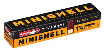 "Aguila 1C128968 Minishell 12 Gauge 1.75"" 5/8 oz 7.5 Shot 20 Bx/ 25"