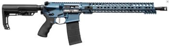 "Patriot Ordnance Factory 01580 Wonder   5.56 Nato 16.50"" 30+1 Blue Titanium Cerakote/Black Barrel Black 6 Position MFT Minimalist Stock"
