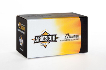 .22 MAG 40 GR JHP Jacketed Hollow Point Rimfire AM