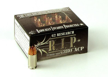 G2 Research 380 ACP 62Gr. R.I.P. Ammo - BOX OF 20