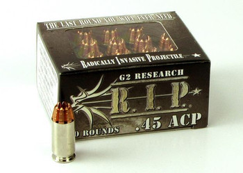 G2 Research 45 ACP 162Gr. R.I.P. Ammo - BOX OF 20