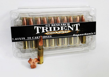 G2 Research Trident 7.62X39 124Gr. Ammo - BOX OF 2
