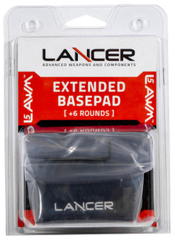 Lancer EXTBP06BLK L5AWM  Base Plate Extension 223 Rem/5.56NATO 6 rd Polymer Black Finish