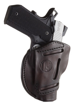"1791 GUNLEATHER HOLSTER 3-WAY OWB MULTI- FIT AMBI SZ1 1911 FRM 3-4"" SBR"