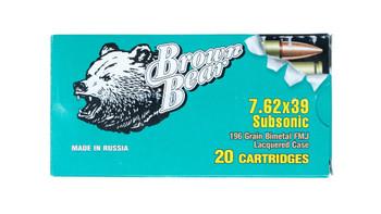 Brown Bear 7.62X39 Subsonic Ammunition BOX 20 Roun