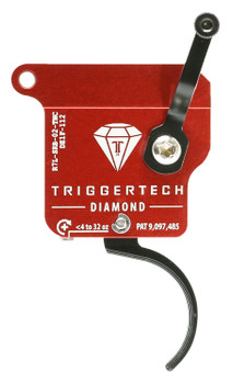 TriggerTech R7LSRB02TNC Diamond without Bolt Release Left Hand Remington 700 Single-Stage Traditional Curved 0.30-2.00 lbs Left