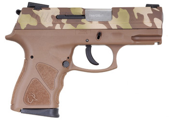 "TAURUS TH9 9MM CAMO/TAN 4.3"" 17+1 MS"