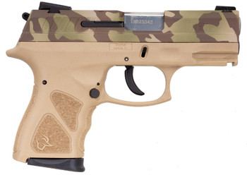"TAURUS TH9 9MM CAMO/FDE 4.3"" 17+1 MS"