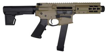 """10 Ring Marketing 9MM AR Style 5.5""""Fde Pistol"""