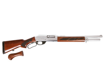Black Aces Tactical Pro Series L Lever Action Shotgun - Silver