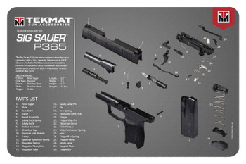"BECK TEK, LLC (TEKMAT) R17SIG9365 Sig Sauer P365  Cleaning Mat P365 Diagram 17"" x 11"" Black/Gray/White"