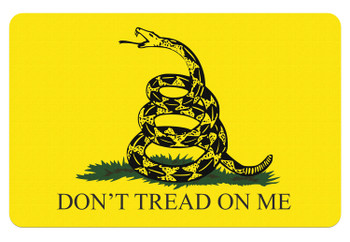"BECK TEK, LLC (TEKMAT) R17GADSDEN Don't Tread on Me  Cleaning Mat Gadsden Flag 17"" x 11"" Yellow/Black"