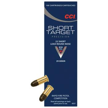 CCI/SPEER Rimfire 22 Short Target 29gr RN