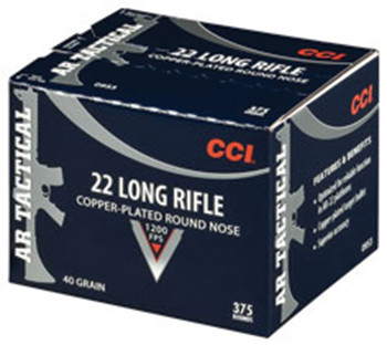 CCI/SPEER Rimfire 22 LR Tactical 40gr CPRN  375RDS