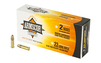Armscor 50321 Rimfire  22 LR 36 GR High Velocity Hollow Point (HVHP) 200 Bx/ 11 Cs