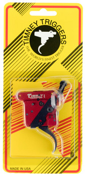 Timney Triggers 533 2-Stage   Remington 700 Black/Red Two-Stage Curved 1-1.50 lbs Right