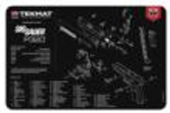 """TEKMAT ARMORERS BENCH MAT 11""""X17"""" SIGARMS P320 BLACK"""