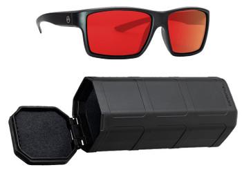 Magpul MAG1024-067 Explorer  Grey/Red Mirror Polycarbonate Lens Black Frame