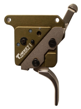Timney Triggers 517-16V2 Elite Hunter with Safety Remington 700 Straight 3.00 lbs Green/Nickel