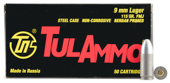 Tula 9MM 115 Grain Weight FMJ 50/1000 814950011531