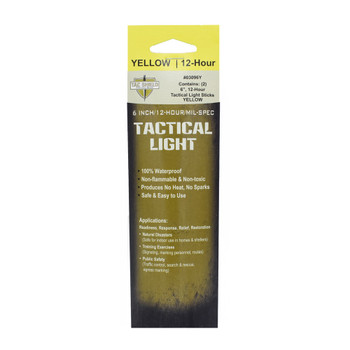 TAC SHIELD Tactical 12 Hour Light Stick 2 Pack Yellow
