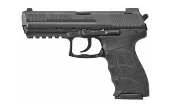 """HECKLER & KOCH 81000122 P30L V3 DA/SA 9mm Luger 4.45"""" 10+1 Black Black Long Steel Slide Black Interchangeable Backstrap Grip"""