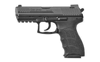 """HECKLER & KOCH 91000013 P30 V3 9mm Luger 3.85"""" 10+1 Black Black Steel Slide Black Interchangeable Backstrap Grip"""