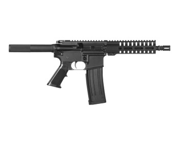 "CMMG 54A2427 Banshee 100 MK4 5.7x28mm 8"" 20+1 Black Hard Coat Anodized Black A2 Grip CMMG Pistol Tube"
