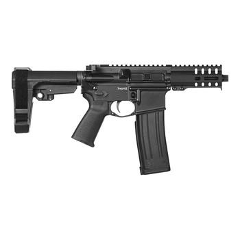 "CMMG 54A186A-MB Banshee 300 MK4 5.7x28mm 5"" 20+1 Midnight Bronze Cerakote Black Magpul MOE Grip CMMG 6 Position RipBrace"