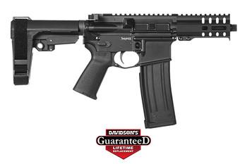 "CMMG 54A186A-GB Banshee 300 MK4 5.7x28mm 5"" 20+1 Graphite Black Cerakote Black Magpul MOE Grip CMMG 6 Position RipBrace"