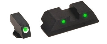 Ameriglo Green Front/Rear Operator Night Sights For Glock 9MM/40 Caliber