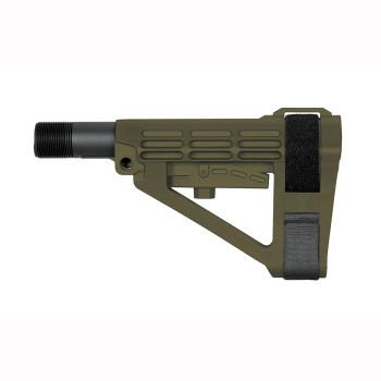 SBA4 5-Position Adjustable Brace OD Green
