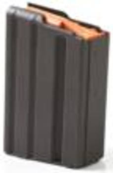ASC AR15 MAGAZINE .223 BLK ALUM W/ORANGE FOLLOWER 10/RD