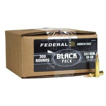 .223 REM 55GR FMJ BT 600rd Black Bulk Box