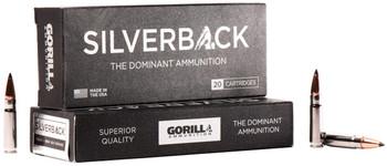 Gorilla Silverback Rifle Ammunition .300 AAC Blackout 85 gr SCHP 2550 fps 20/ct