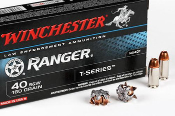 40 SMITH AND WESSON 180 GR. RANGER T-SERIES 50RD