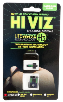 Hiviz 9EZN321 LiteWave H3 S&W M&P 9EZ S&W M&P 9EZ 3 Dot Green/Green Black