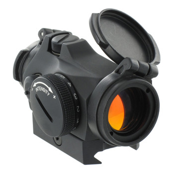 The Aimpoint Micro T-2 is the latest and greatest offering from Aimpoint, and is testament to the Aimpoint's constant pursuit of improvement! This cutting edge red dot has a host of features, from enhanced lens coatings that radically improve the shape and clarity of the 2MOA dot to a heavily ruggedized housing for even greater protection.  The combination of advanced optical lenses and lens coatings reflect the dot's selected frequency of red light at nearly 100% efficiency to give the highest possible dot brightness with the least amount of energy, while other wavelengths in the visible and near-infrared part of the spectrum pass through with a minimum of reduction. This provides the clearest, brightest image possible, allowing for use with all generations of night vision, as well as improved clarity when coupled with a magnifier!  Last but not least, Aimpoint has added flip-up front and rear lens covers to the optic to protect the lenses from nearly any weather conditions you may encounter in the field or on the range.  Features:  - Advanced optical lenses for even better light transmission - Front Flip-up lens cover is included - Transparent rear Flip-up lens cover is included - Reinforced protection of the turrets for even greater ruggedness - Ideal for rifles, carbines, shotguns, submachine guns, and handguns - Weight 3.7 oz. including mount, sight only 3.0 oz. - 1X (non-magnifying) parallax free optic - Compatible will all generations of Night Vision Devices (NVD) - 1 Off position, 4 night vision compatible settings and 8 daylight settings - one extra bright for use with laser protection glasses or in bright desert sunlight - Integral Picatinny-style base allows easy attachment to any rail - ACET technology allows 50,000 hours (over 5 years) of constant operation with one battery - Hard anodized non-reflective finish - Submersible to 80 feet (25 meters) - Use as a standalone sight or piggybacked on larger magnifying, thermal, or night vision optics