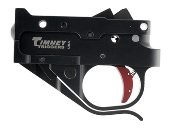 Timney Triggers 1022-2C Replacement Trigger  Ruger 10/22 Single-Stage Curved 2.75 lbs Black/Red