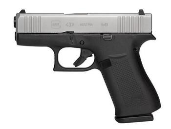 Glock 43X 9MM 10Rd Silver PX435SL201
