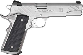 """SPRINGFIELD ARMORY 1911A1 TRP .45ACP 5"""" FNS 7-SH STAINLESS W/RANGE BAG"""