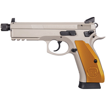 CZ USA 75 SP-01 TACTICAL 9MM 4.6 GOLD ALUM GRIPS