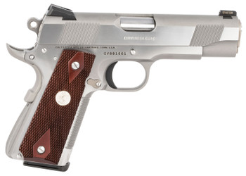 "Colt Mfg O4012XSZ 1911 Combat Commander Elite 45 ACP 4.25"" 8+1 Two-Tone Elite Black G10 Checkered w/Scallop Grip"