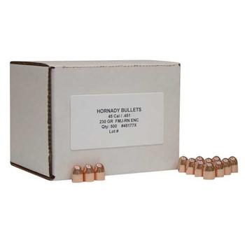 Hornady Bullet 45cal .451 230gr FMJ-RN ENC