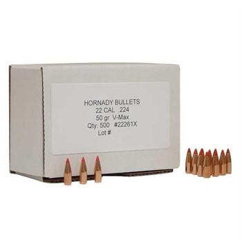 Hornady Bullet 22Cal(.224) 50gr. V-Max