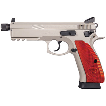 CZ USA 75 SP-01 TACTICAL 9MM 4.6 RED ALUM GRIPS