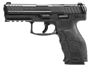 """HK 81000224 VP9  9mm Luger 4.09"""" (3) 10+1 Black Steel Slide Black Interchangeable Backstrap Grip Night Sights"""